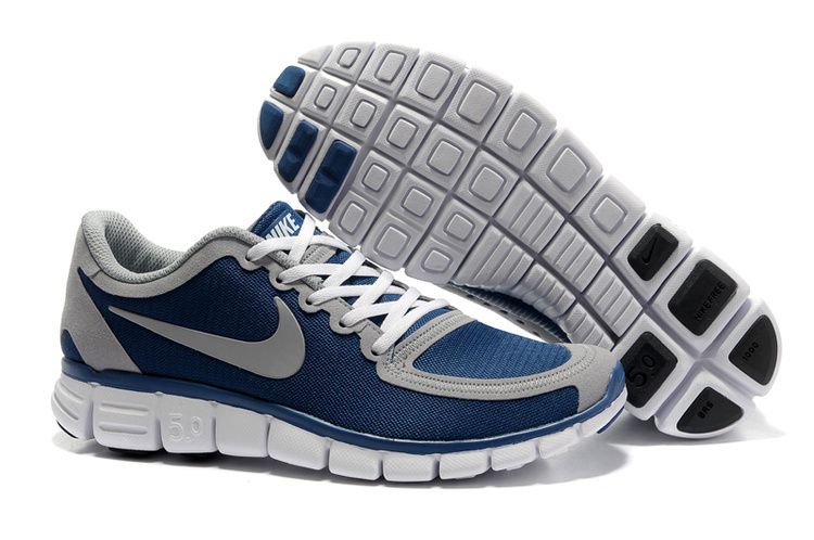 Nike Free Run 5.0 V4 Blue Grey White Shoes