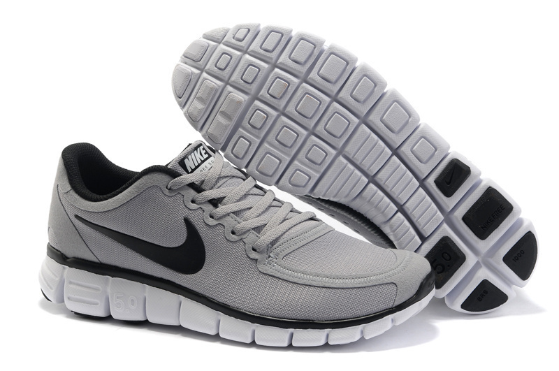 Nike Free Run 5.0 V4 Grey Black White Shoes