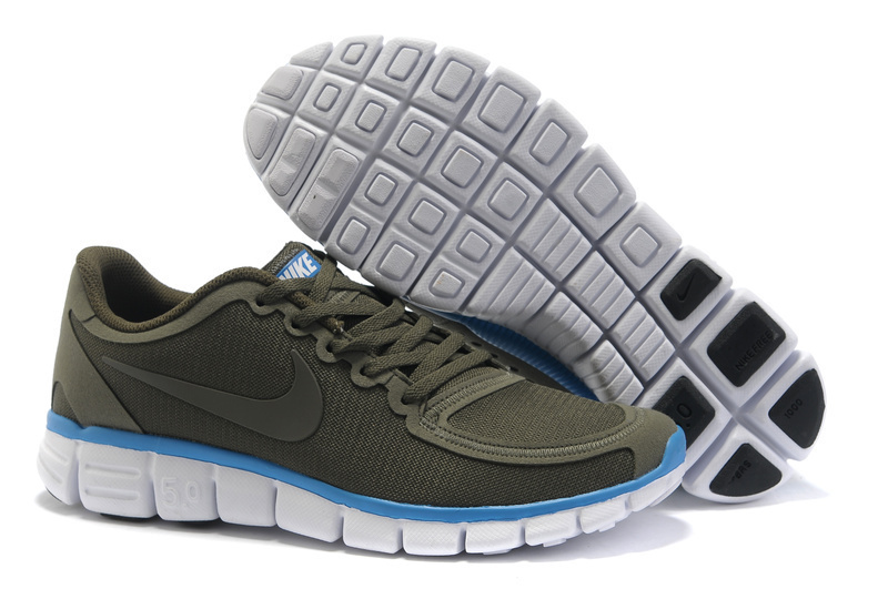 Nike Free Run 5.0 V4 Grey Blue White Shoes