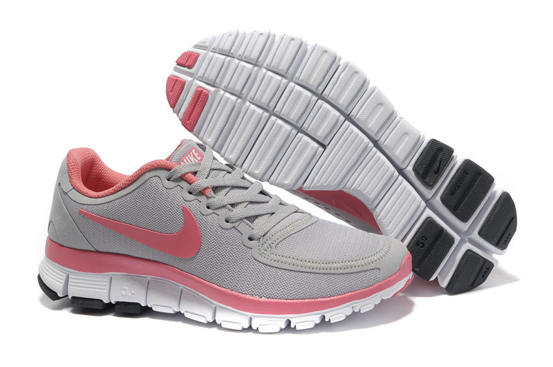 Nike Free Run 5.0 V4 Grey Pink White Shoes