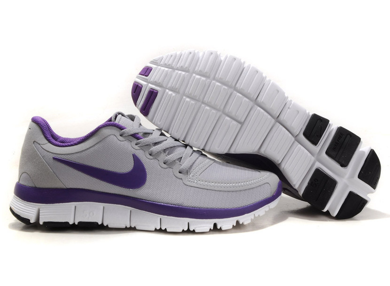Nike Free Run 5.0 V4 Grey Purple White Shoes