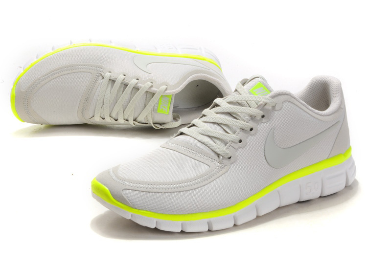 Nike Free Run 5.0 V4 Grey Yellow Shoes