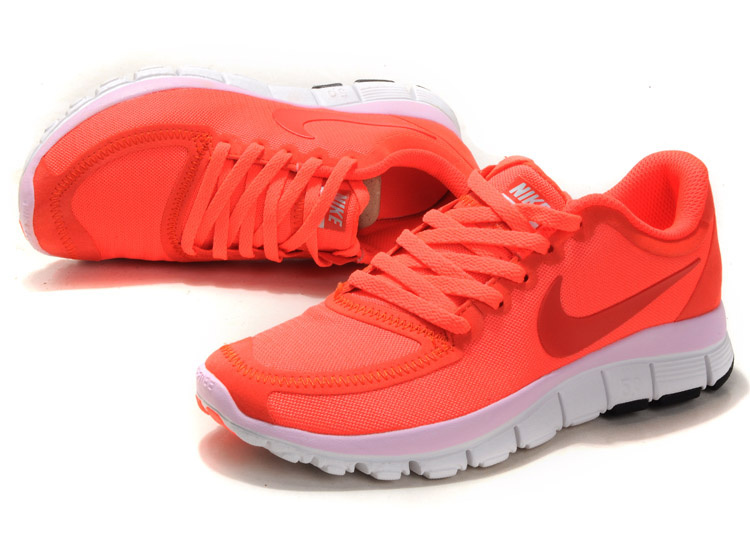 Women Nike Free Run 5.0 V4 Pink White Shoes