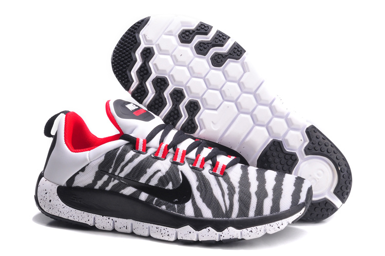 Nike Free Run 5.0 White Black Strip Red Shoes