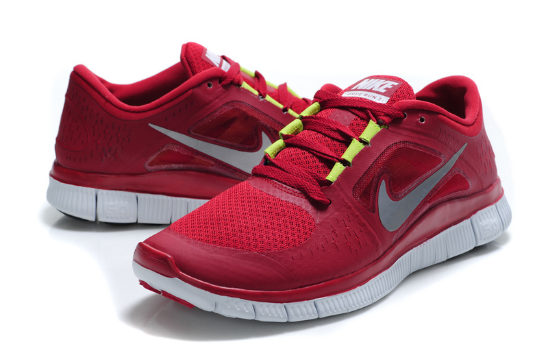 Nike Free Run 5.0 Wine Red White Shoes