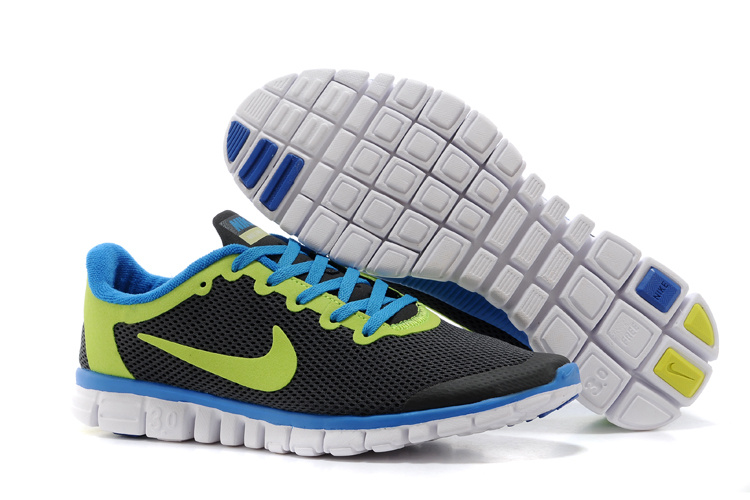 Nike Free Run.3.0 Boutique Black Green Blue Running Footwear