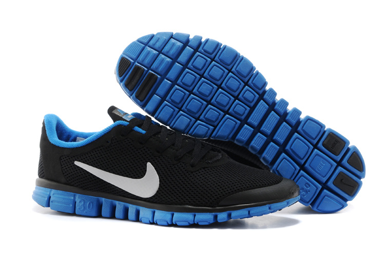 Nike Free Run.3.0 Boutique Dark Black Blue White Running Footwear