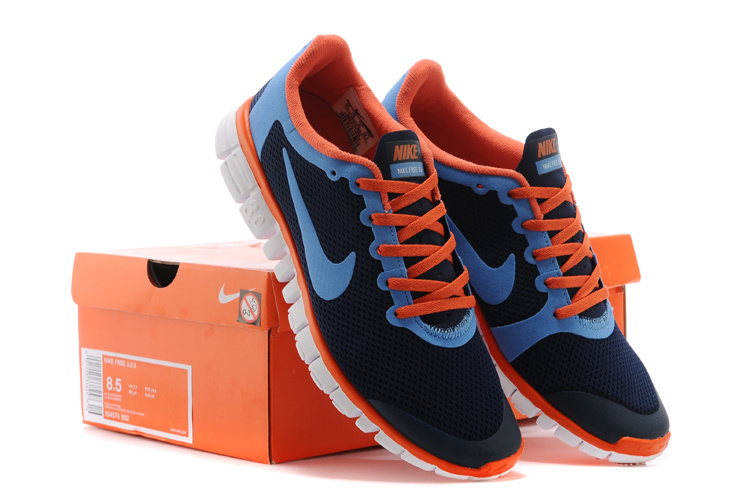 Nike Free Run.3.0 Boutique Dark Blue Orange Running Footwear