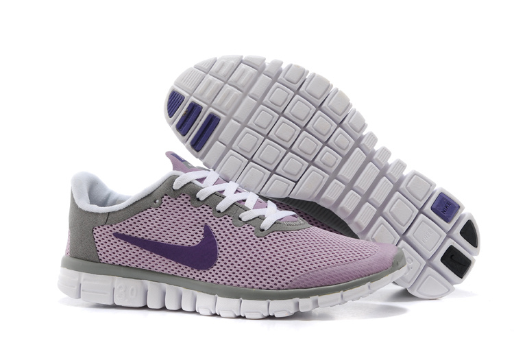 Nike Free Run.3.0 Boutique Pink Grey Purple Running Footwear