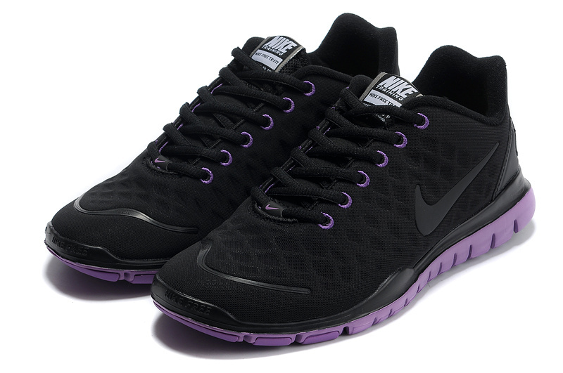 Women Nike Free TR Fit Black Purple Running Shoes