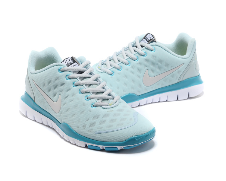 Women Nike Free TR Fit Light Blue Grey Running Shoes