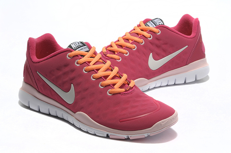 Women Nike Free TR Fit Plum White Running Shoes