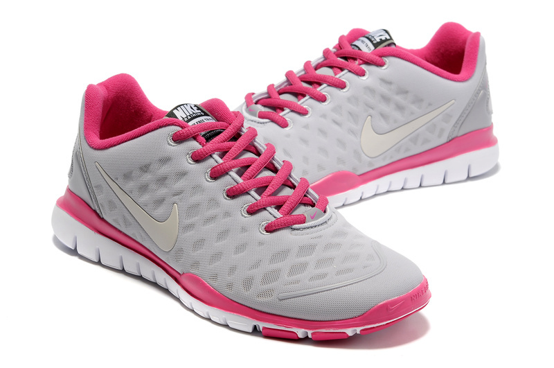 Women Nike Free TR Fit White Grey Pink Running Shoes