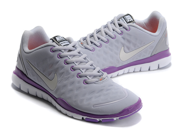 Women Nike Free TR Fit White Purple Grey Running Shoes