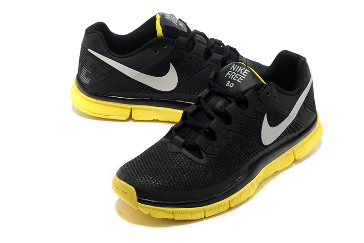 Nike Free Run 3.0 Trainer Black Yellow Shoes