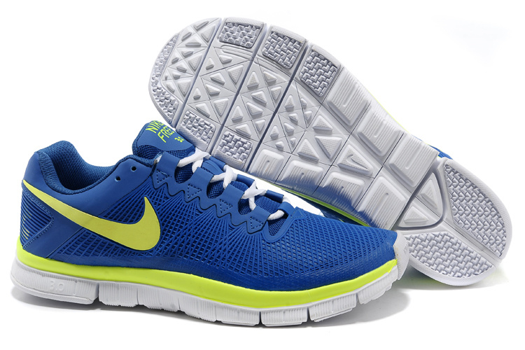 Nike Free Run 3.0 Trainer Blue Yellow Shoes