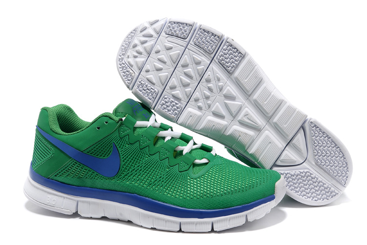 Nike Free Run 3.0 Trainer Green Blue White Shoes