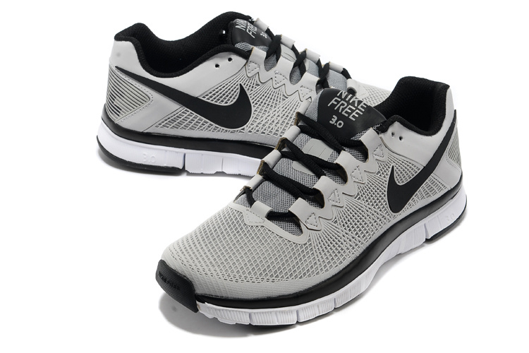 Nike Free Run 3.0 Trainer Grey Black Shoes