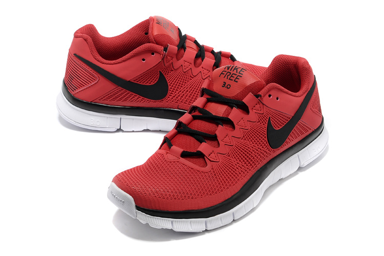 Nike Free Run 3.0 Trainer Red Black Shoes
