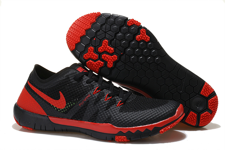 Nike Free Run 3.0 V3 Trainer Black Red Shoes