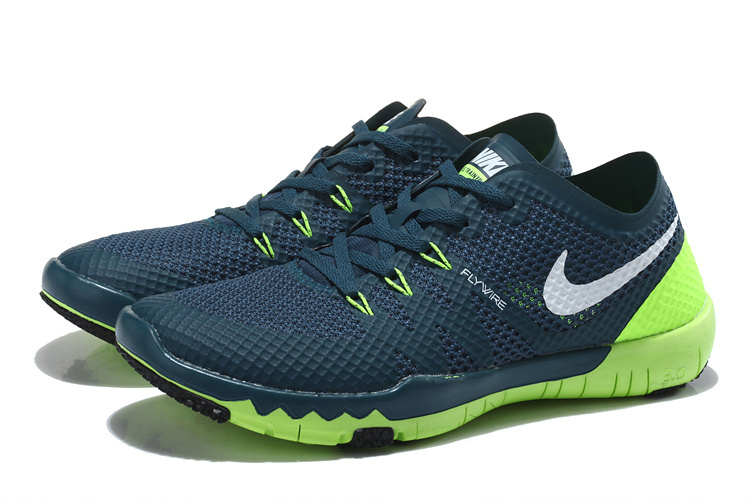Nike Free Trainer 3.0 V3 Deep Blue Green Running Shoes