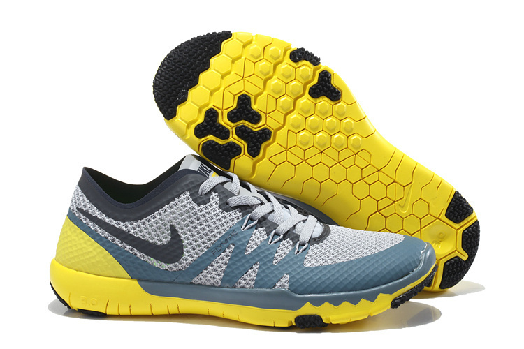 Nike Free Trainer 3.0 V3 Grey Blue Yellow Running Shoes