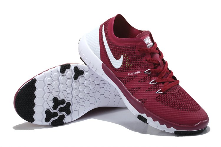 Nike Free Run 3.0 V3 Trainer Wine Red White Shoes For Women
