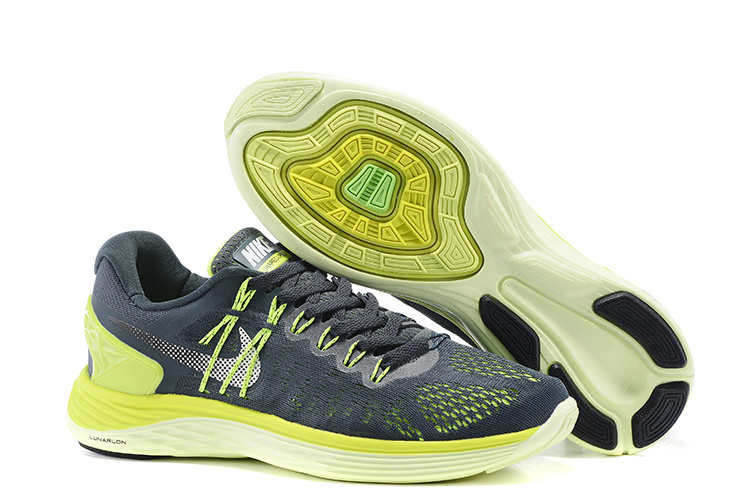 Nike Lunareclipes Grey Fluorscent Green White Running Shoes