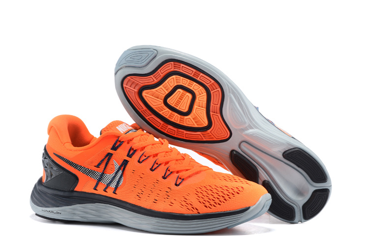 Nike Lunareclipes Orange Black Grey Running Shoes
