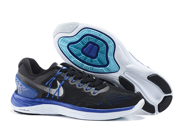 Nike Lunareclipse Black Blue Running Shoes