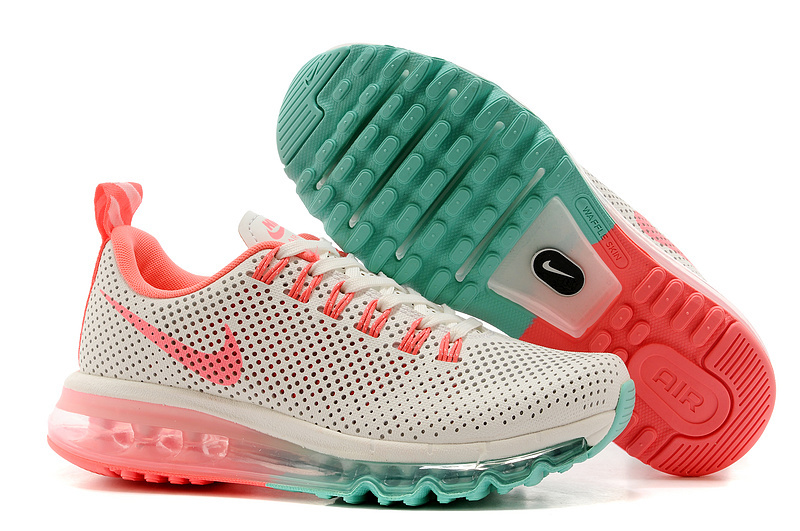 Women Nike Max Motion 2014 White Orange Green