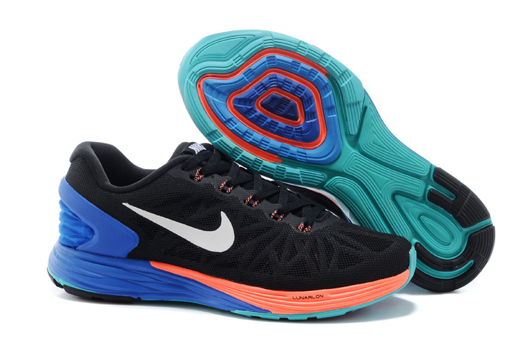 Nike Moofall 6 Black Blue Orange Running Shoes For Women