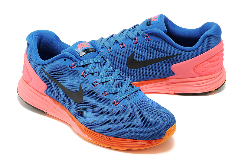 Nike Moofall 6 Blue Orange Running Shoes