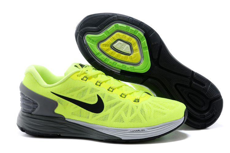 Nike Moofall 6 Fluorscent Green Grey Running Shoes