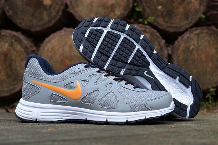 Nike Revolution 2 MSL Grey Yellow White Running Shoes