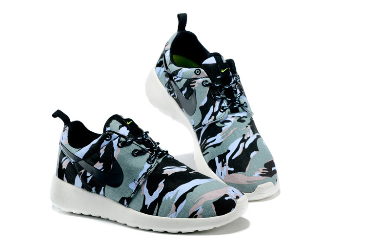 Nike Roshe Run 3M Green Black White Women Shoes