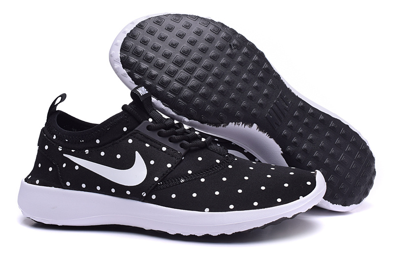 Nike Roshe Run 4 Black White Shoes For Women