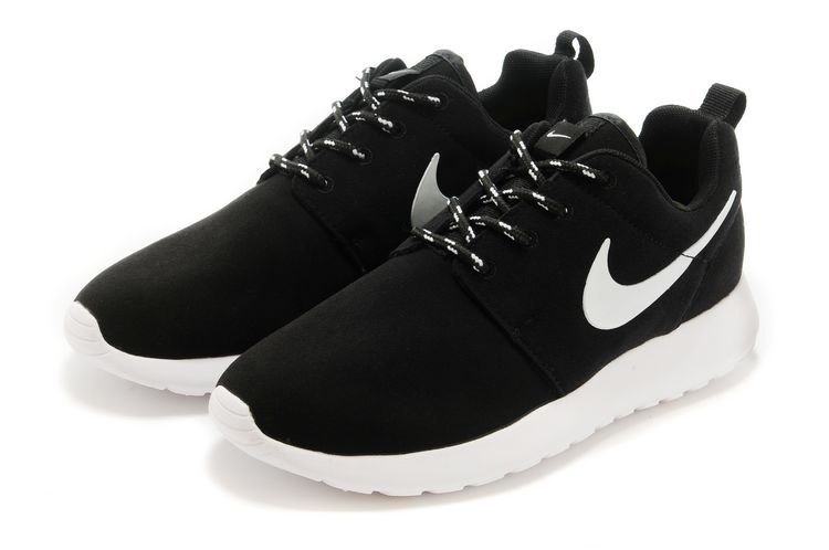 New Nike Roshe Run Black White Lovers Running Shoes