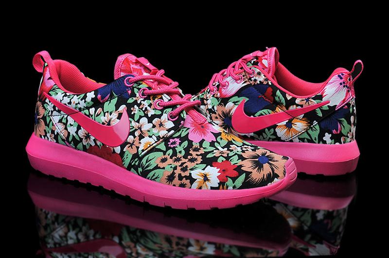 Nike Roshe Run Follower Print Red Green Shoes For Women