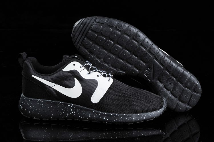 Nike Roshe Run HYP QS 3M Black White Women Shoes