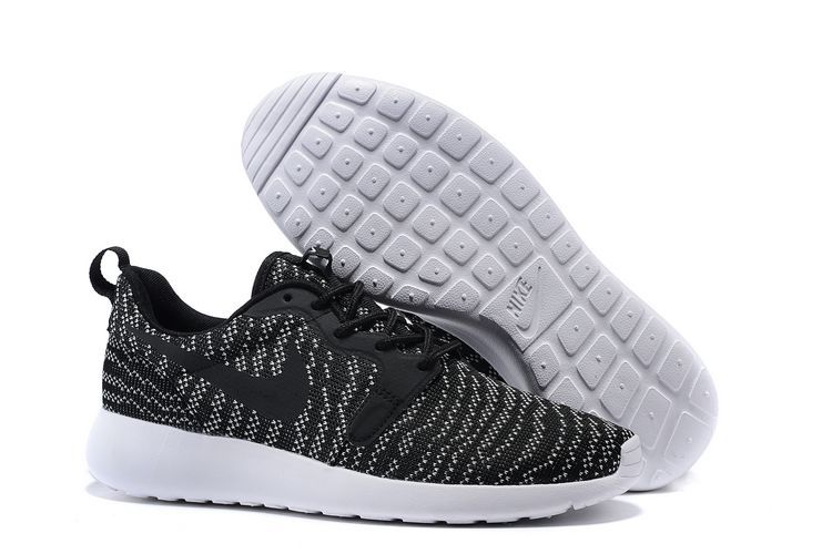Nike Roshe Run KJCRD Black White Shoes