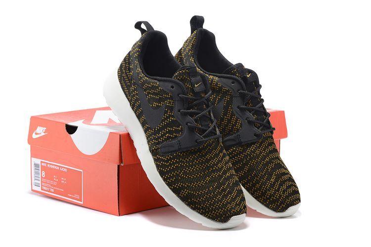 Nike Roshe Run KJCRD Dark Green Blac White Shoes