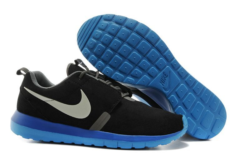 Nike Roshe Run NM 3M Midnight Black Blue Grey Swoosh Shoes