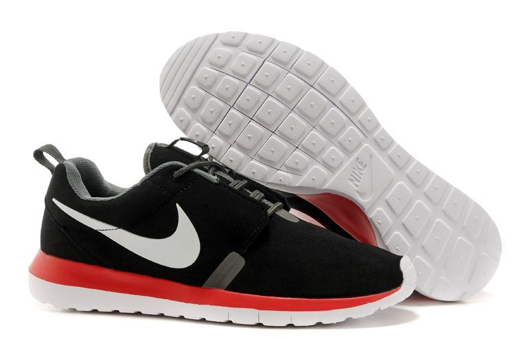 Nike Roshe Run NM 3M Midnight Black Red White Swoosh Shoes