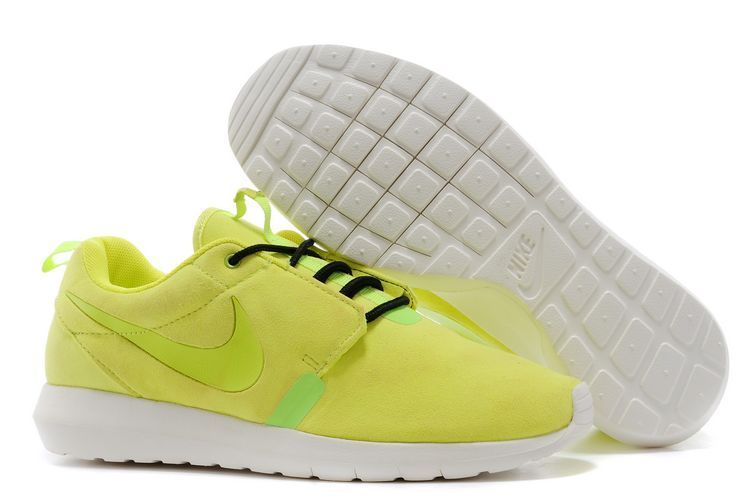 Nike Roshe Run NM 3M Midnight Fluorscent Green White Shoes