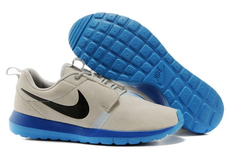 Nike Roshe Run NM 3M Midnight Grey Blue Black Swoosh Shoes