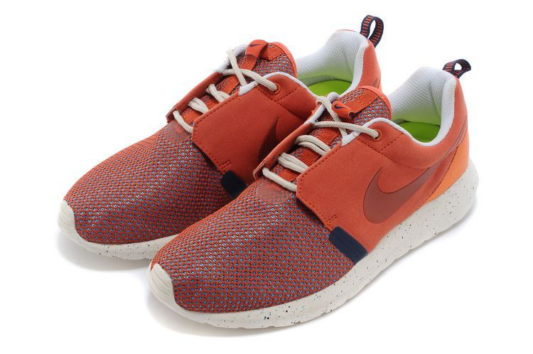 Nike Roshe Run NM BR 3M Orange Wine Red White Shoes