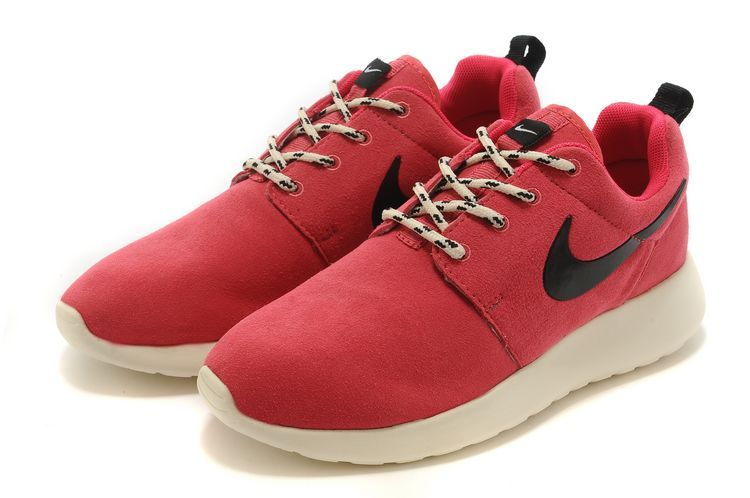 New Nike Roshe Run Red White Black Swoosh Lovers Running Shoes