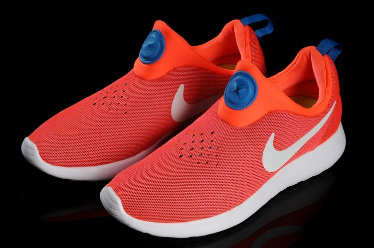 Nike Rosherun Slip On Orange White Swoosh Shoes