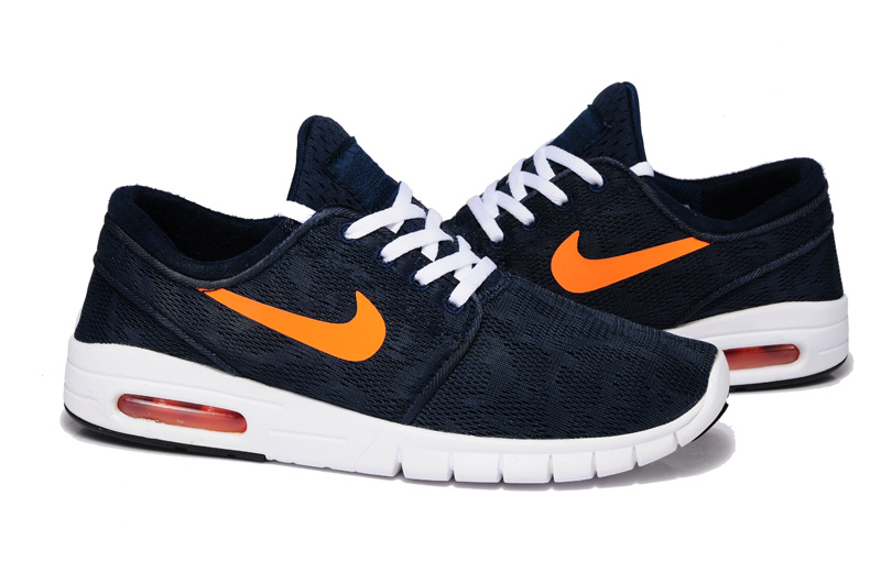 Nike SB Stefan Janoski Max Light Dark Blue Orange Yellow Men Shoes